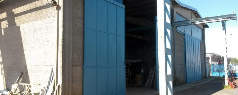 L'ingresso dell'officina Comoind a Rosignano Solvay